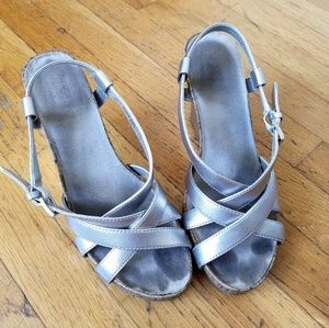 Silver Platform Heels